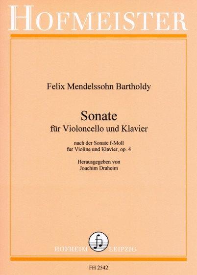 Sonate F-Moll, op. 4