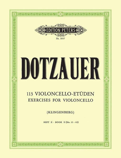 Dotzauer: 113 Violoncello-Etüden - Heft 2: Nr. 35 - 62