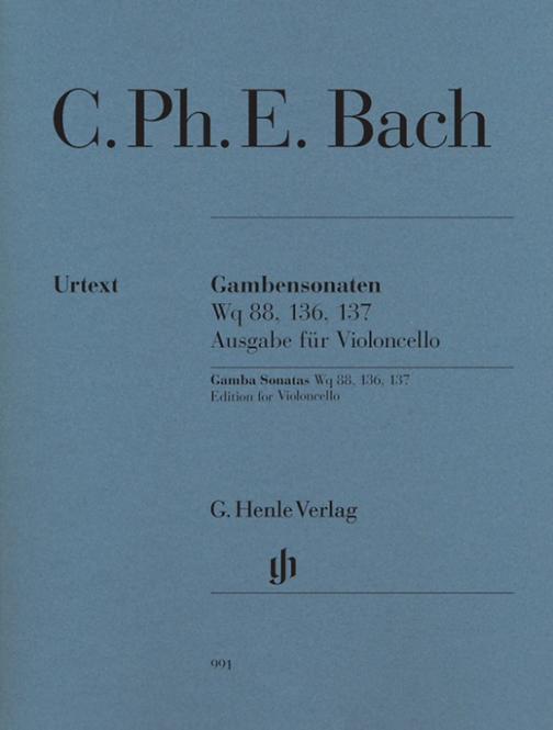 Bach: Gambensonaten Wq 88, 136, 137