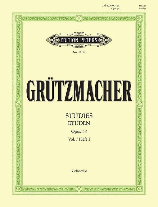Grützmacher: 24 Etüden für Violoncello op. 38. Heft 1: ohne Daumenaufsatz