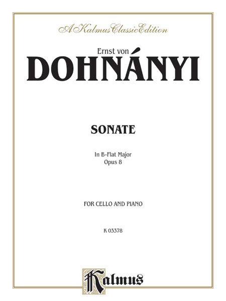 Dohanyi: Sonata In B-Flat Major op. 8
