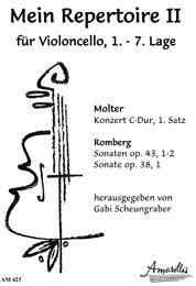 Mein Repertoire 2 für Cello - Werke von Werke von Molter und Romberg
