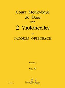 Cours méthodique de duos pour deux violoncelles Op.50 Vol.1