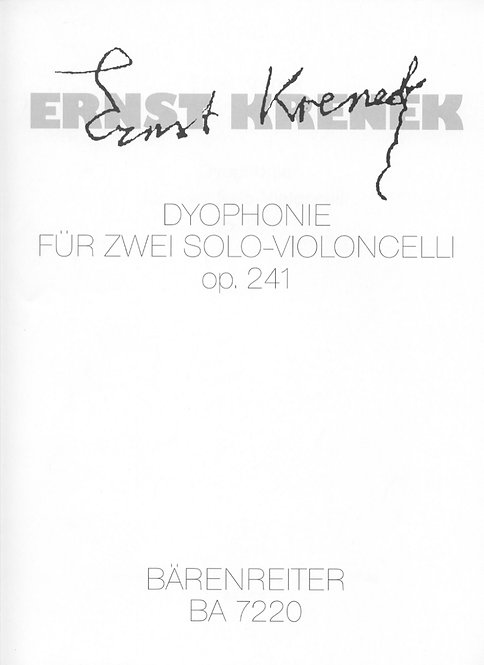 Krenek: Dyophonie op. 241