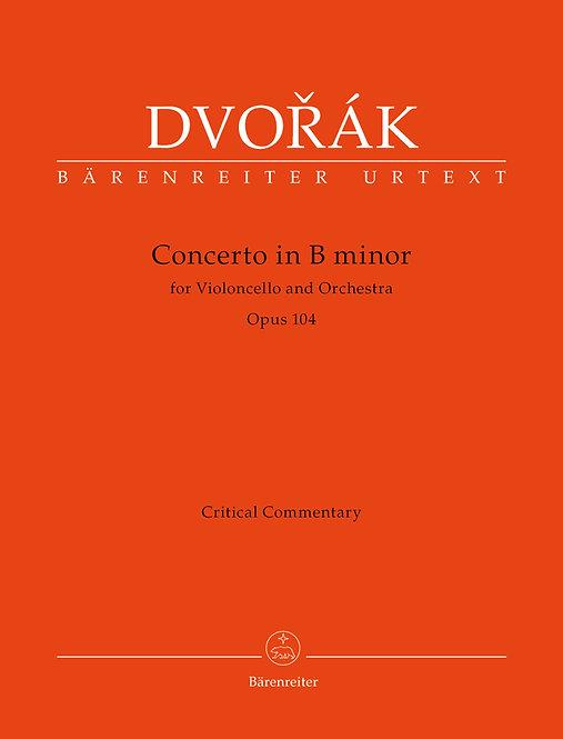 Dvořák: Konzert für Violoncello und Orchester h-Moll op. 104. Kritischer Bericht