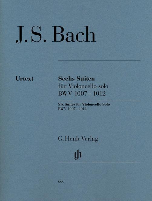 Bach: Sechs Suiten BWV 1007-1012 für Violoncello solo