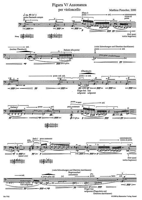 Pintscher: Figura V / Assonanza für Violoncello solo (2000)