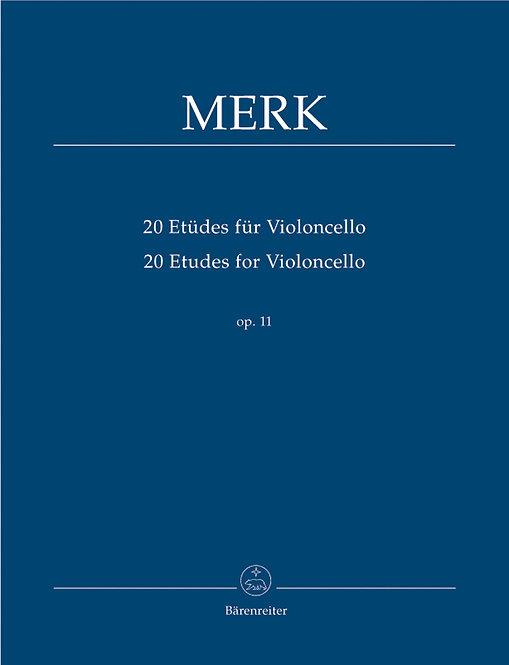Merk: 20 Etüden für Violoncello op. 11