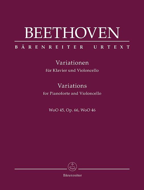 Beethoven: Variationen für Klavier und Violoncello op. 66 WoO 45/46