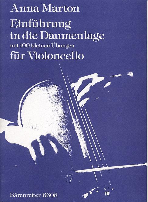 Einführung in die Daumenlage. 100 kleine Übungen für Violoncello