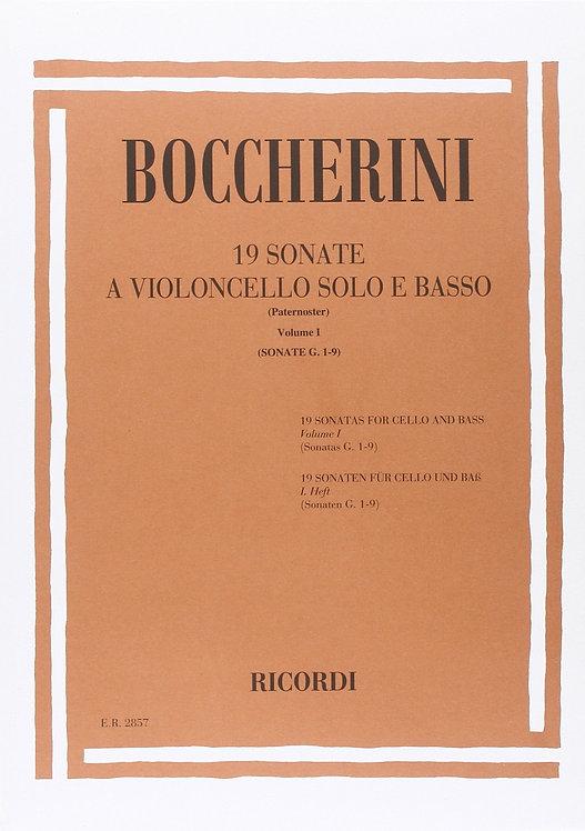 Boccherini: 19 Sonatas Vol. 1: Nos 1-9