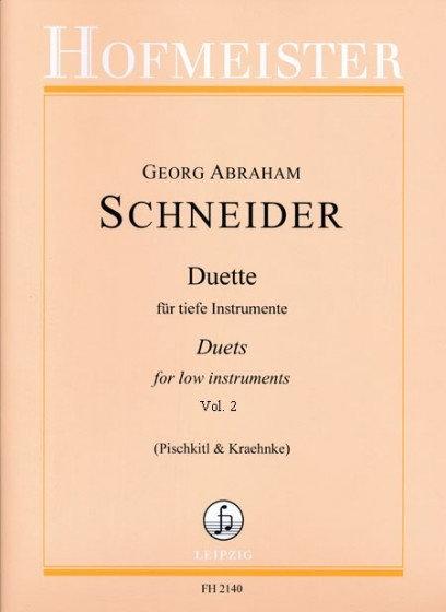 Abraham: Duette für Tiefe Instrumente. Heft 2