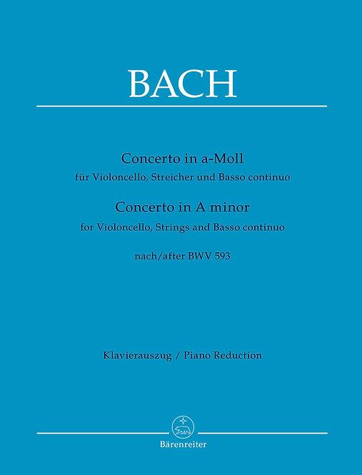 Bach:Concerto für Violoncello Streicher und Basso continuo a-Moll