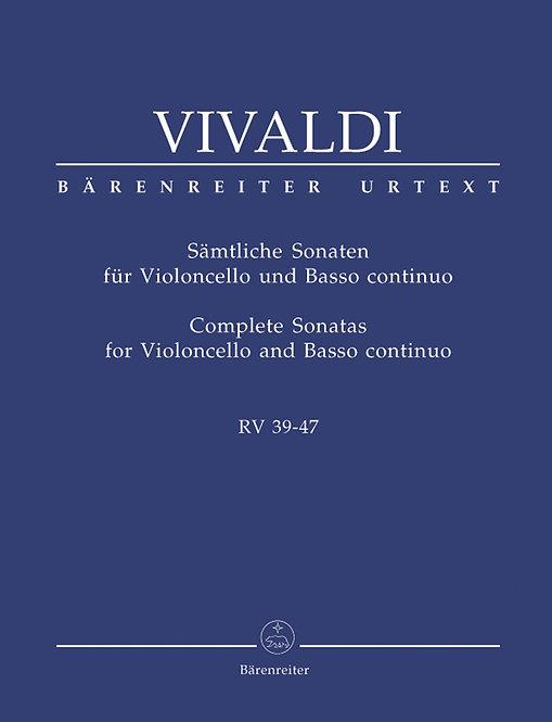 Vivaldi: Sämtliche Sonaten für Violoncello und Basso continuo RV 39-47