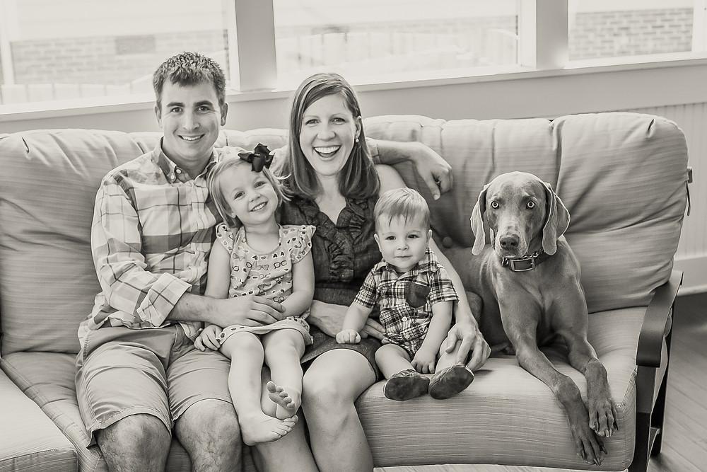 Savannah Family Photographer Family Photo with dog