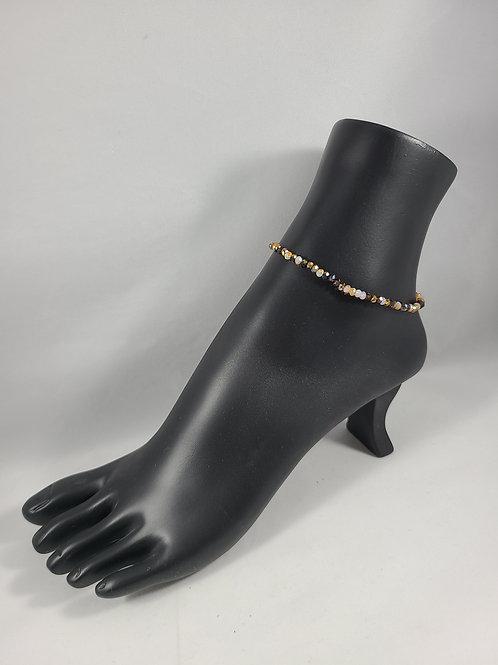 Amber Beaded Anklet