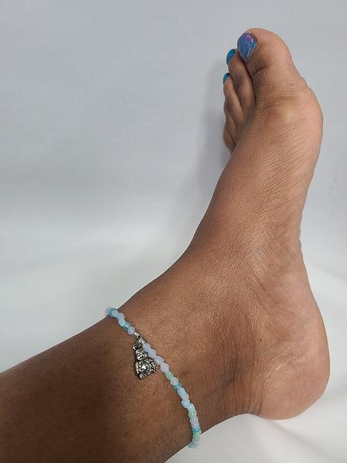 Light Blue Buddha Charm Anklet