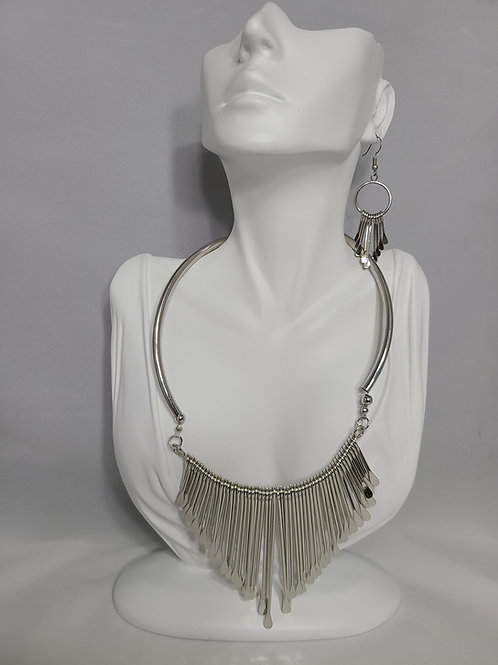 Chunky Tassel Necklace and Earrings