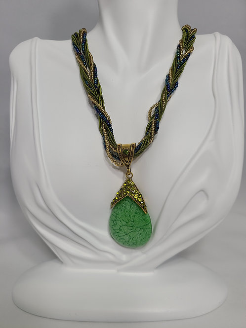 Green Sabrina Necklace