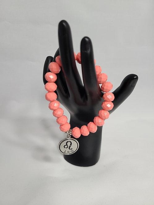 Orange Sherbert Zodiac Charm Bracelet