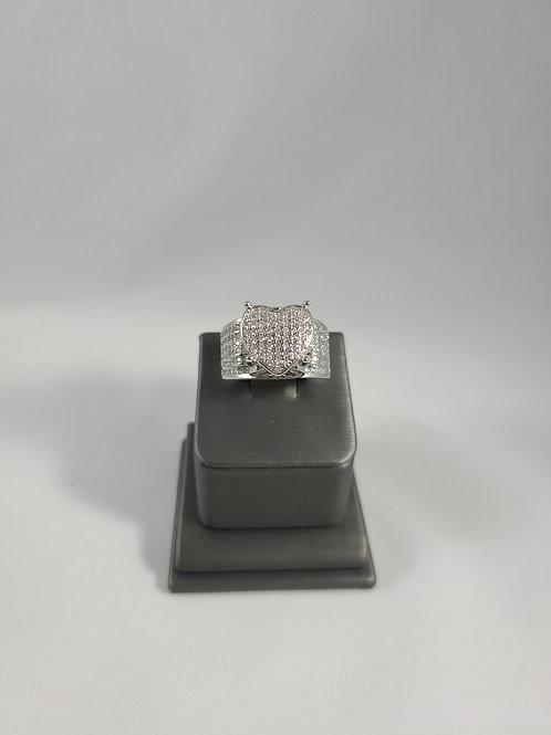 3D Heart Blinged Ring