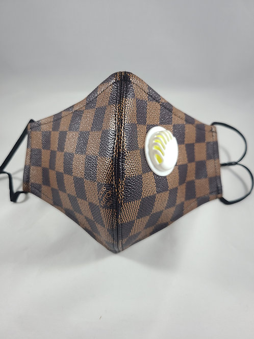 Brown Checkered Mask