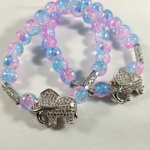 Elephant Charm Beaded Bracelet
