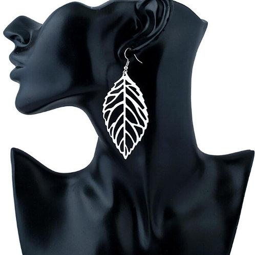 Vintage Metal Leaf Earrings