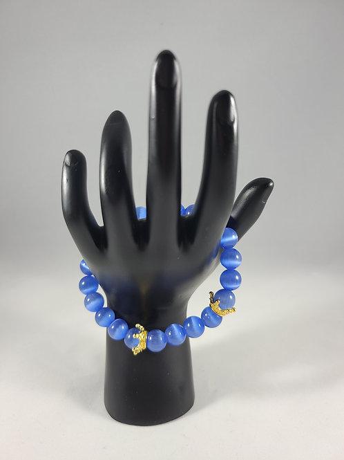 King's Blue Cat Eye Bracelet