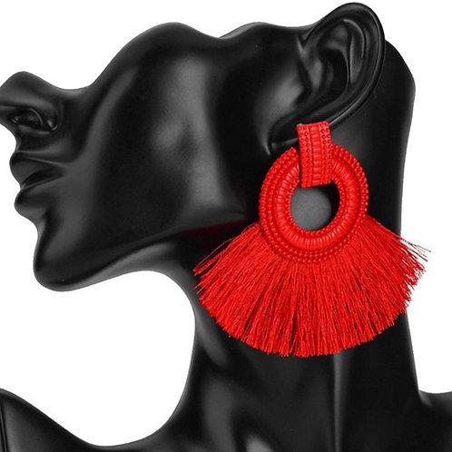 Boho Tassel Hoop Earrings