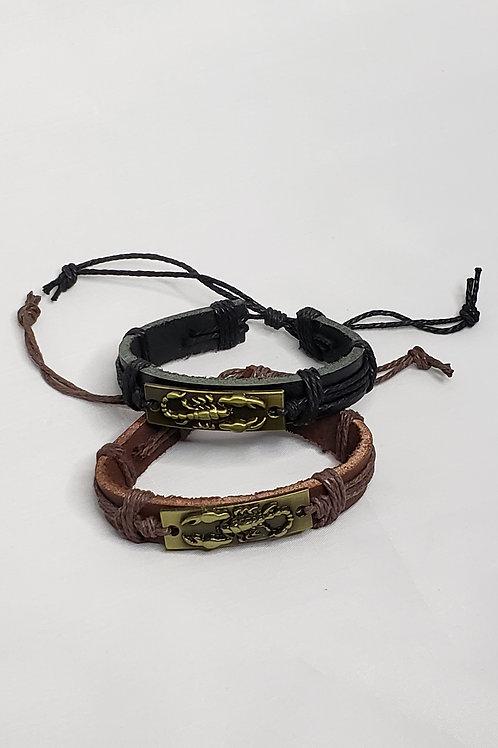 Leather Scorpion Bracelet