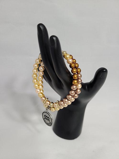 Tan Zodiac Bracelet Set
