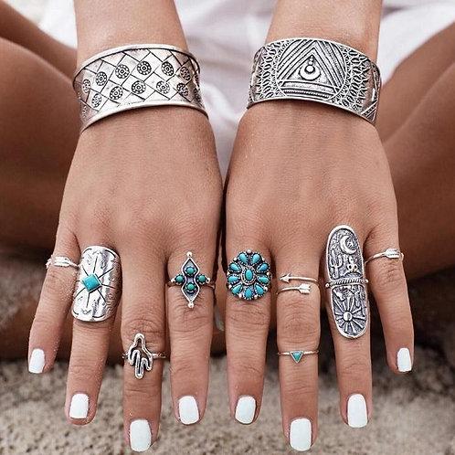 Bohemian Totem Ring Set