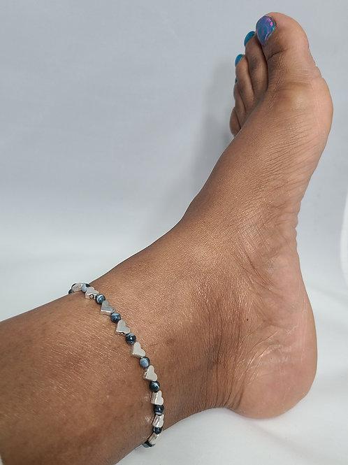 Heart Charm Anklet