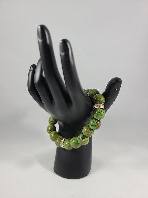 Outdoor Green Beaded Bracelet