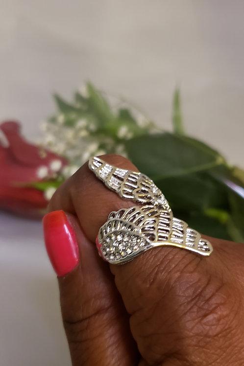 Crystal Wings Angel Ring