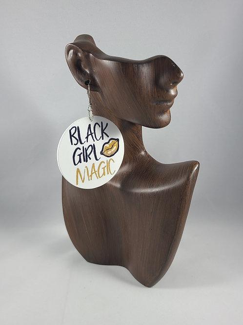 Black Girl Magic Lips Earrings