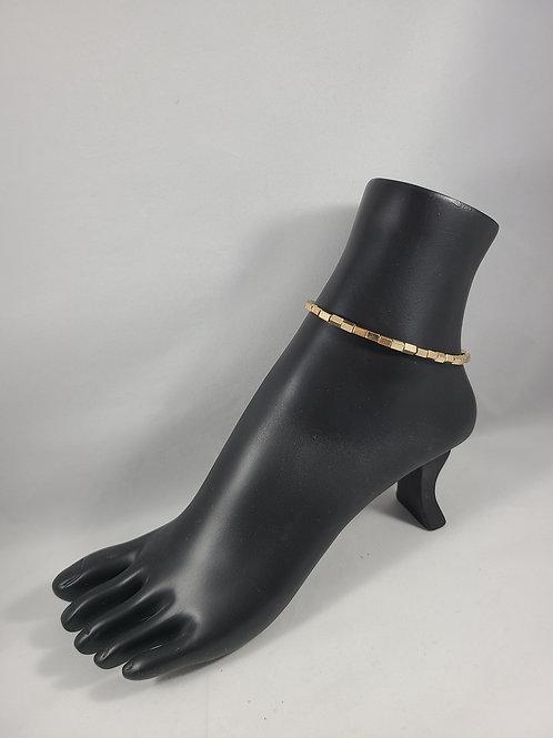 Gold Beaded Anklet