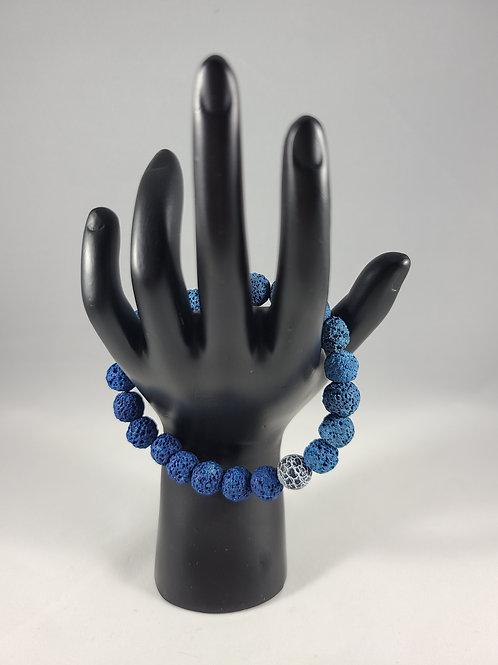 Blue Chakra Bead Charm Bracelet