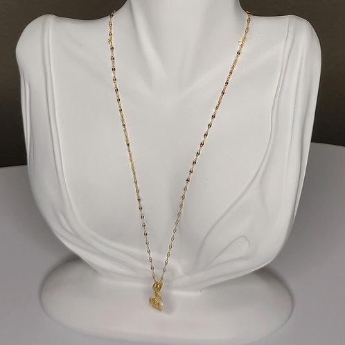 Vintage White Elephant Pendant Necklace