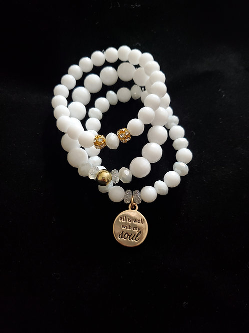 All is Well With My Soul Bracelet Set