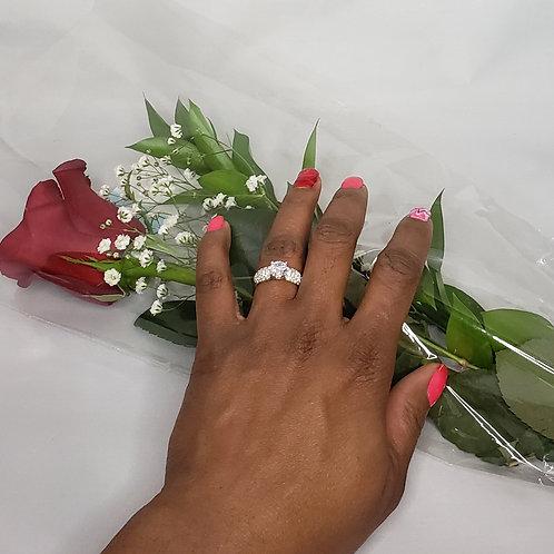 Platinum CZ wedding ring