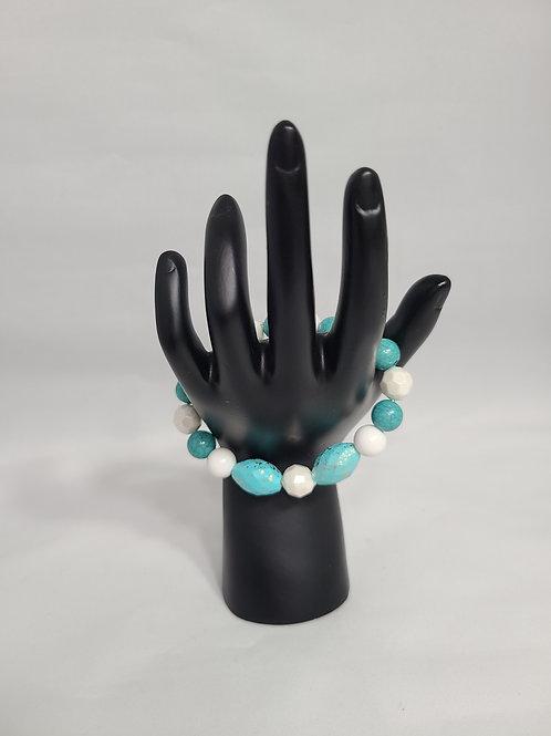 White and Blue Handmade Bracelet