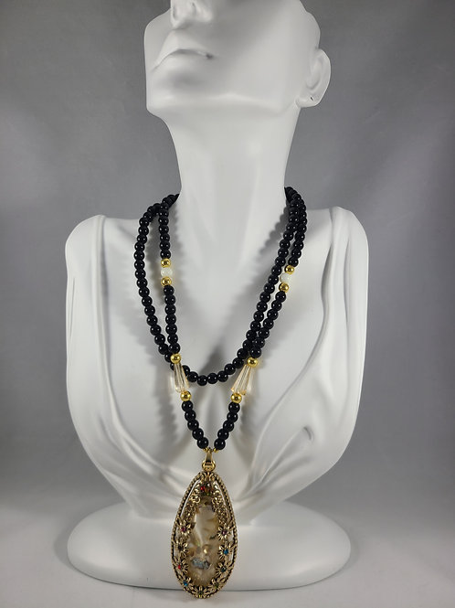 Ebony Beaded Necklaces