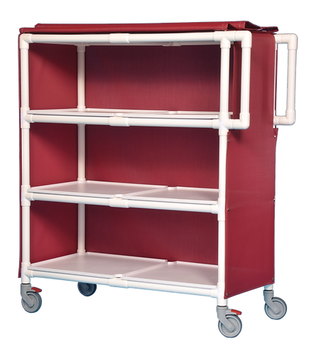 LC-243 3 Shelf Deluxe Linen Cart