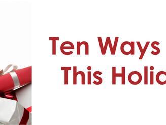 Ten Ways to De-Stress This Holiday Season