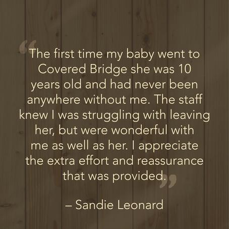 Sandie's Testimonial