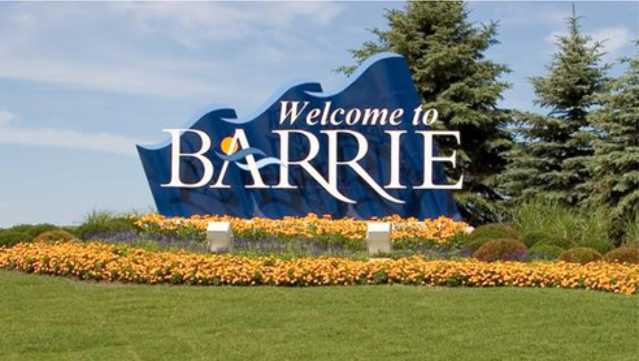 Barrie Welcome Sign
