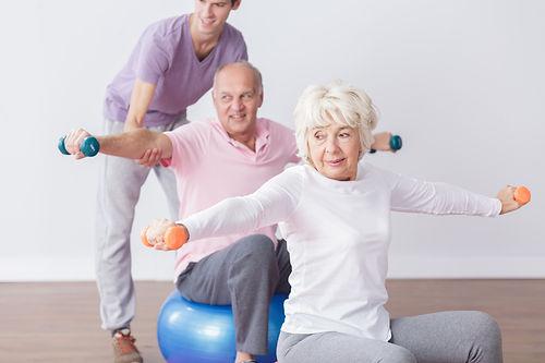 Seniors Exercising