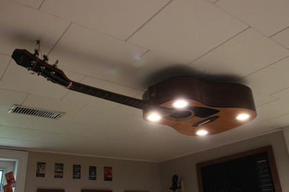Custom Guitar Ceiling Light